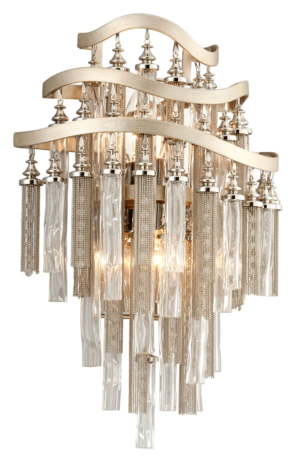 Crystal 17 Inch Tall Wall Sconce