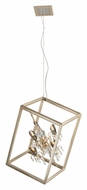 Corbett 177-45 Houdini Small 28 Inch Wide Hanging Light - Silver Leaf & Gold