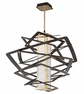 Corbett 186-42 Tantrum Modern Bronze Finish 34.5  Wide LED Medium Pendant Light Fixture