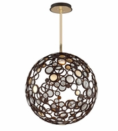 Corbett 188-43 Fathom Modern Bronze Finish 29.5  Wide LED Large Drop Ceiling Light Fixture