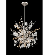 Corbett 189-49 Party All Night Modern Modern Silver Finish 36  Wide Hanging Lamp
