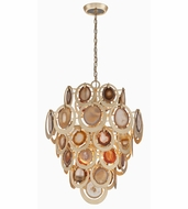 Corbett 190-410 Rock Star Modern Gold Leaf Finish 24  Wide Hanging Light