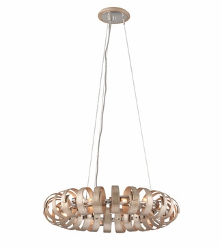 Corbett 191-48 Recoil Contemporary Textured Silver Leaf Finish 324 Tall Hanging Light Fixture