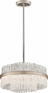 Corbett 204-44 Chime Contemporary Silver Leaf Small Pendant Lighting