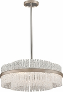 Corbett 204-46 Chime Modern Silver Leaf Medium Pendant Light