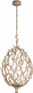 Corbett 205-41 Enchanted Contemporary Enchanted Silver Leaf LED Small Pendant Lamp
