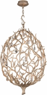 Corbett 205-42 Enchanted Modern Enchanted Silver Leaf LED Medium Hanging Lamp
