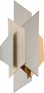 Corbett 207-12 Modernist Modern Polished Stainless Steel with Silver and Gold Leaf 2-Light Lighting Sconce