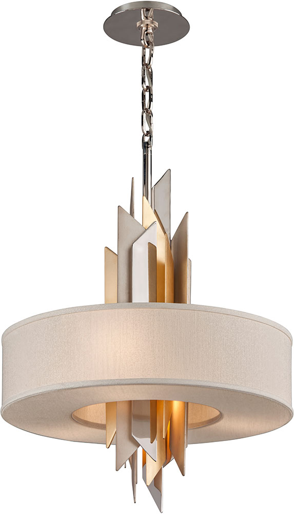 Corbett 207 44 F Modernist Modern Polished Stainless Steel With Silver And Gold Leaf Loading Zoom