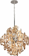 Corbett 208-46 Media Contemporary Polished Stainless Steel Medium Pendant Lighting