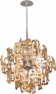 Corbett 208-48 Media Modern Polished Stainless Steel Large Pendant Light