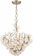 Corbett 211-47 Lily Modern Enchanted Silver Leaf Pendant Lighting Fixture
