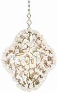 Corbett 211-712 Lily Contemporary Enchanted Silver Leaf Pendant Lighting