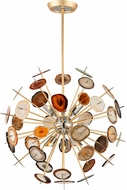 Corbett 212-46 Meteor Contemporary Textured Gold Leaf Halogen Medium Hanging Light Fixture