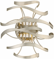 Corbett 213-12 Calligraphy Contemporary Silver Leaf LED Wall Light Sconce