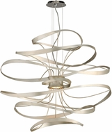 Corbett 213-43 Calligraphy Modern Silver Leaf LED Large Ceiling Pendant Light