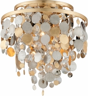 Corbett 215-33 Ambrosia Gold And Silver Leaf w/ Stainless Steel Ceiling Light