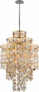 Corbett 215-711 Ambrosia Gold And Silver Leaf w/ Stainless Steel Foyer Light Fixture