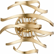 Corbett 216-12 Calligraphy Contemporary Gold Leaf w/ Polished Stainless Accents LED Wall Lighting