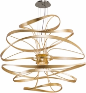 Corbett 216-44 Calligraphy Contemporary Gold Leaf w/ Polished Stainless Accents LED 42  Hanging Pendant Light