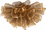Corbett 218-31 Pulse Modern Gold Leaf LED Ceiling Light Fixture