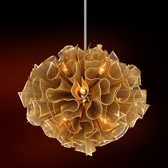 Corbett 218-412 Pulse Contemporary Gold Leaf 30.375  Drop Ceiling Lighting