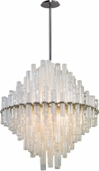 Corbett 219-72 Manhattan Contemporary Satin Silver Leaf LED 34  Pendant Lighting
