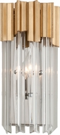 Corbett 220-11 Charisma Gold Leaf w/ Polished Stainless  Lighting Sconce