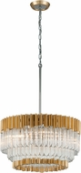 Corbett 220-410 Charisma Gold Leaf w/ Polished Stainless  36  Pendant Light