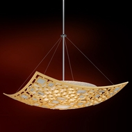 Corbett 223-45 Motif Contemporary Gold Leaf w/ Polished Stainless Accents 42 Pendant Hanging Light