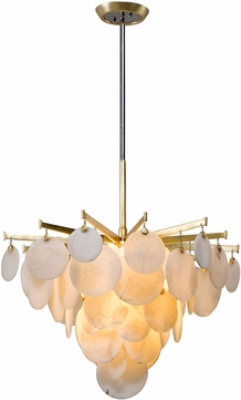 Corbett 228-42 Serenity Modern Gold Leaf LED 28  Pendant Lighting