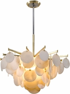 Corbett 228-44 Serenity Modern Gold Leaf LED 40  Lighting Pendant