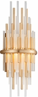 Corbett 238-11 Theory Contemporary Gold Leaf With Polished Stainless LED Wall Sconce