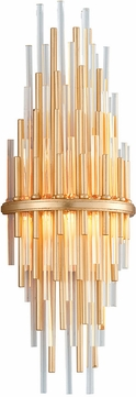 Corbett 238-12 Theory Modern Gold Leaf With Polished Stainless LED Wall Lamp