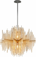 Corbett 238-42 Theory Contemporary Gold Leaf With Polished Stainless LED Pendant Lighting Fixture