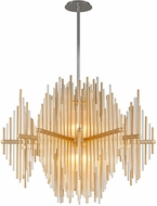 Corbett 238-43 Theory Modern Gold Leaf With Polished Stainless LED Hanging Pendant Lighting