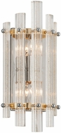 Corbett 239-12 Sauterne Contemporary Gold Leaf With Polished Stainless Wall Lighting