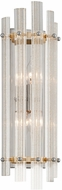 Corbett 239-13 Sauterne Modern Gold Leaf With Polished Stainless Sconce Lighting
