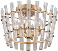 Corbett 239-34 Sauterne Contemporary Gold Leaf With Polished Stainless Ceiling Light