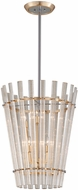Corbett 239-46 Sauterne Contemporary Gold Leaf With Polished Stainless Pendant Hanging Light