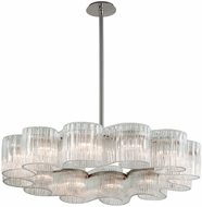 Corbett 240-412 Circo Contemporary Satin Silver Leaf Drop Lighting