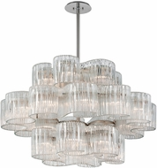 Corbett 240-424 Circo Modern Satin Silver Leaf Drop Ceiling Lighting