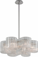 Corbett 240-46 Circo Contemporary Satin Silver Leaf Ceiling Light Pendant