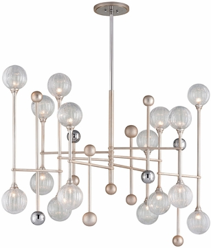 Corbett 241-016 Majorette Modern Silver Leaf With Polished Chrome Xenon Island Lighting