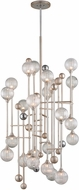 Corbett 241-024 Majorette Contemporary Silver Leaf With Polished Chrome Xenon Drop Lighting Fixture