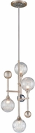 Corbett 241-44 Majorette Modern Silver Leaf With Polished Chrome Xenon Pendant Lighting