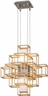 Corbett 242-41 Metropolis Contemporary Gold Leaf LED 20  Pendant Light