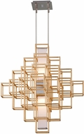 Corbett 242-42 Metropolis Modern Gold Leaf LED 28  Lighting Pendant