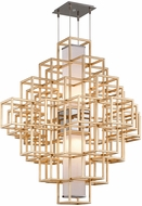 Corbett 242-44 Metropolis Modern Gold Leaf LED 44  Hanging Lamp
