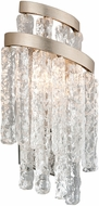 Corbett 243-12 Mont Blanc Contemporary Modern Silver Leaf Lamp Sconce